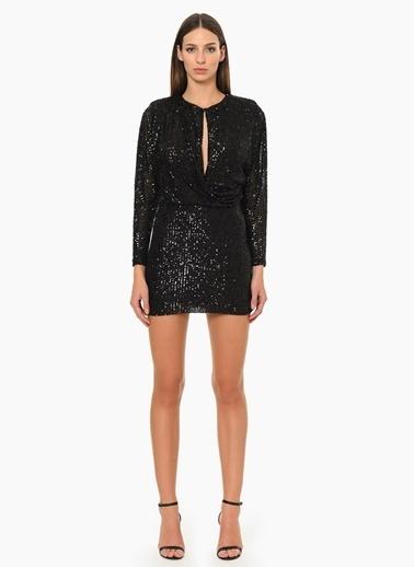 NetWork Mini Abiye Elbise Siyah